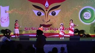 Kids dance on Bengali Song Poushtoder @ Durgotsav 2013