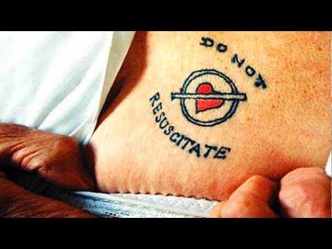 'Do Not Resuscitate' Tattoo
