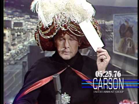 Carnac the Magnificent with Predictions about Snoopy and Taxi Driver on Johnny  Carson's Tonight Show - YouTube