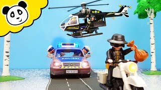 Playmobil Polizei - Verfolgungsjagd mit dem SEK Hubschrauber - Playmobil Film