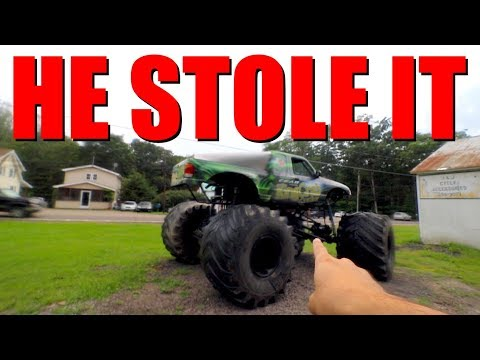 Thumbnail: This Guy STEALS A Monster Truck And BREAKS IT!!!