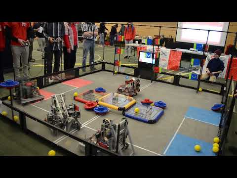 Vermont Technical College's VEX Inaugural Robotics Competition Final Match