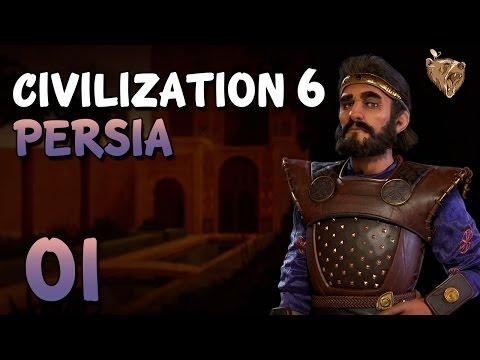 """Civilization 6 Pérsia #01 """"Novo começo"""" - Vamos Jogar Gameplay Português PT-BR"""