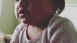 1 year old repeats face parts in Hmong