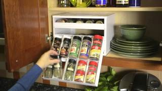 YouCopia Chef's Edition SpiceStack 30 Bottle Spice Rack Cabinet Organizer