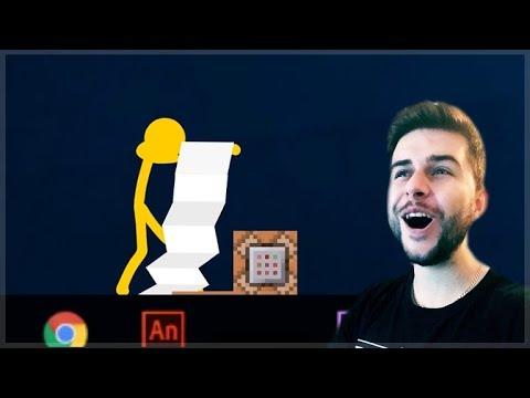 REACTING TO AMAZING ANIMATION Vs MINECRAFT!! - STICKMAN Vs COMMAND BLOCK Minecraft Animations!