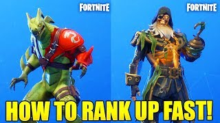 HOW TO RANK UP FAST IN FORTNITE SEASON 8 HOW TO LEVEL UP FAST FORTNITE UNLOCK MAX BLACKHEAR/ HYRBID!