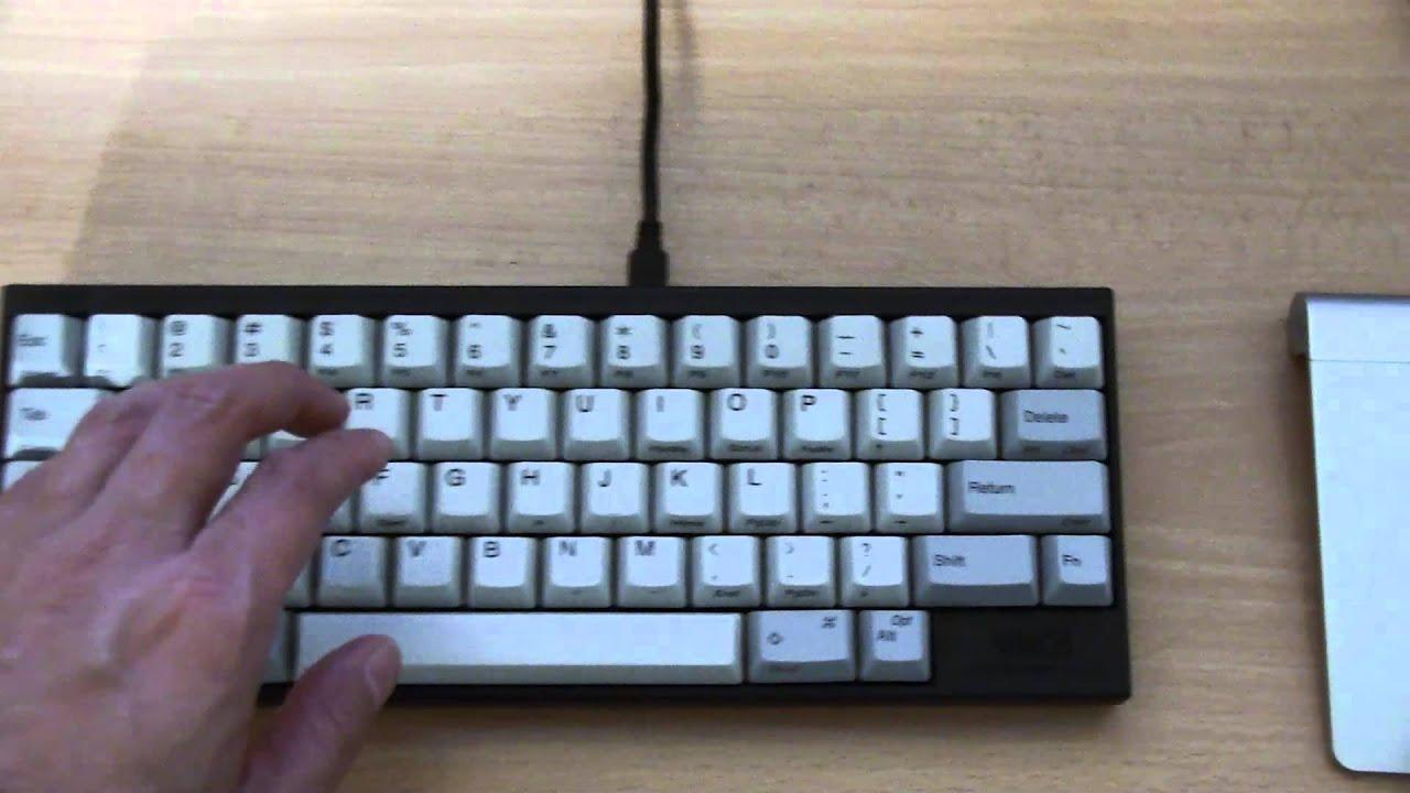 My Hybrid Happy Hacking Pro 2 Keyboard In Black White Youtube