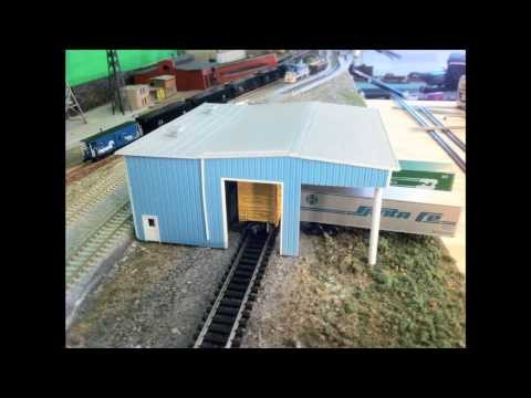 Model Railroads: Making A Modern Transfer Facility.  Pikestuff Kits! Great How To video!
