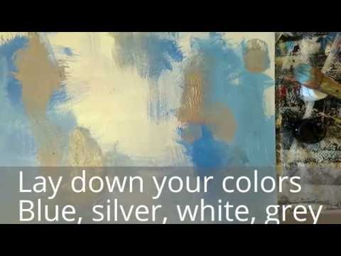 Abstract Art Tutorial: Step by step of creating an expressive glazed painting