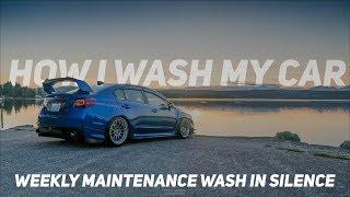 SATISFYING: HOW I WASH MY CAR IN SILENCE : 2015 2020 SUBARU WRX STI | ASMR & POV