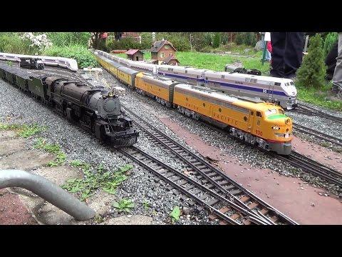 Model Railroad Train Track Plans -Excellent  Planning For U.S.A LGB Gartenbahn Fest Teil 1 / Garden Railroad Event