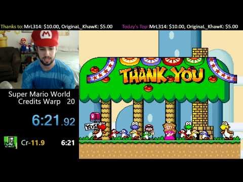 [6:21.3] SMW Credits Warp Wii U VC World Record