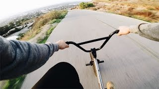 One of John Hicks's most viewed videos: HIGH SPEED BMX HILL BOMB *NO BRAKES*