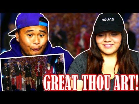 Pentatonix - How Great Thou Art (OFFICIAL VIDEO) ft. Jennifer Hudson   REACTION!