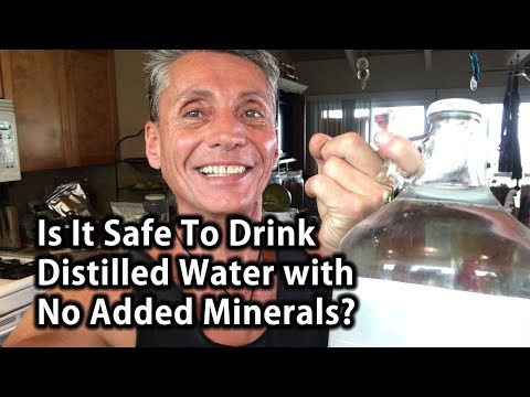 Is It Safe To Drink Distilled Water With No Added Minerals? | Tip Of The Day | Dr. Robert Cassar