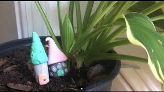Miniature Mushroom Houses - Polymer Clay Thumbnail