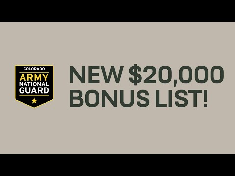$20,000 Enlistment Bonus Opportunities | COLORADO ARMY NATIONAL GUARD
