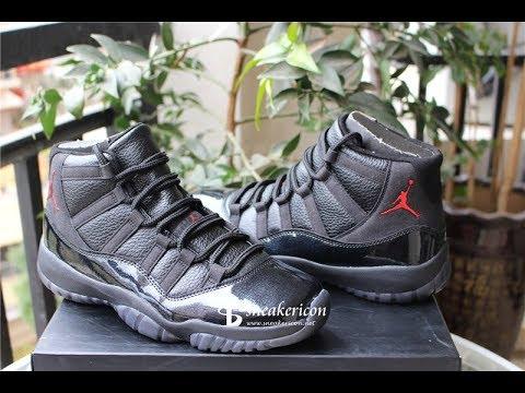 145b60bfa9cc Best UA Air jordan 11 retro black devil details review - YouTube