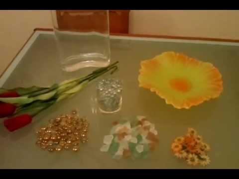 Centros florales sencillos y economicos youtube for Centros de mesa para bodas sencillos y economicos