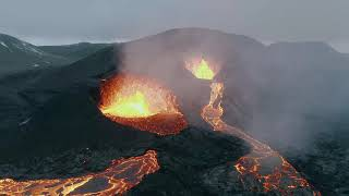 Relaxing Music with an Icelandic Volcano in 4K, Stress Relief, TV Screensaver