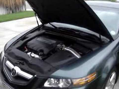Acura TL With Fujita Cold Air Intake YouTube - Acura tl type s cold air intake