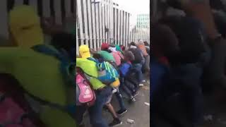 Video from the peaceful caravan.