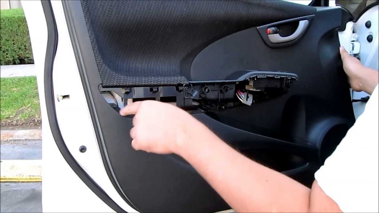 Diy Honda Fit Front Door Panel Removal Youtube