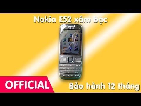 Hướng dẫn sử dụng Nokia E52 xám nguyên bản chính hãng, đẳng cấp doanh nhân.