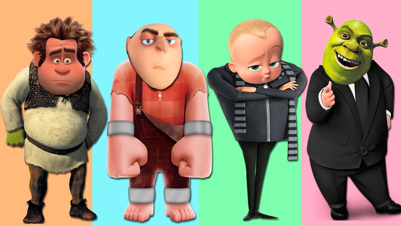 Wrong Heads Shrek Boss Baby Wreck It Ralph Despicable Me