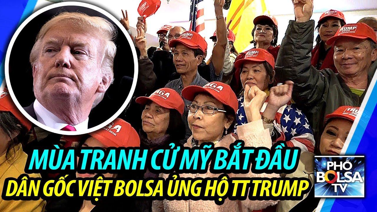 Mùa tranh cử Mỹ bắt đầu: Dân gốc Việt quận Cam ra mặt ủng hộ TT Trump -  YouTube