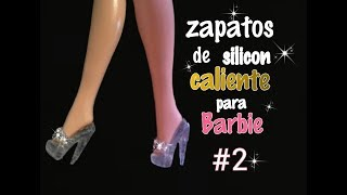 Zapatos de silicon caliente para barbie #2