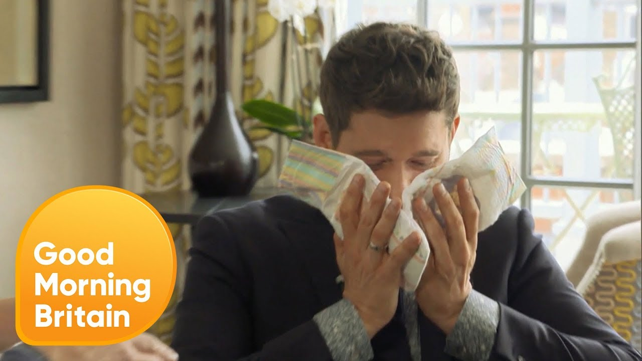 Michael Bublé Has His Sense of Smell Tested with Scented Nappies | Good Morning Britain