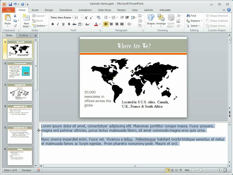 example of text overflow in powerpoint 2010 notes & print preview, Powerpoint Notes Template, Powerpoint templates