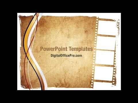 Movie Strip PowerPoint Template Backgrounds - DigitalOfficePro ...