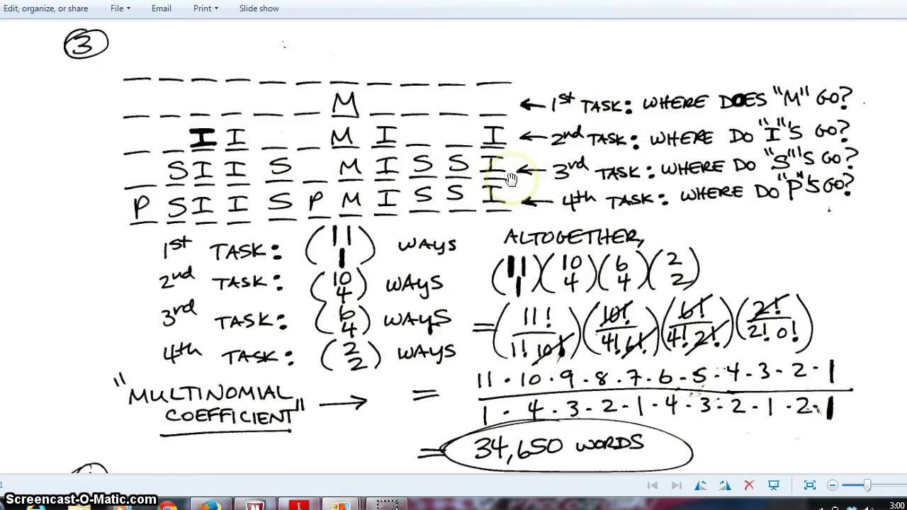 Permuations And Combinations Worksheet