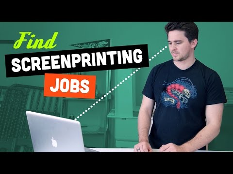 Find SCREEN PRINTING Jobs or Post Your Own | Screen Printing