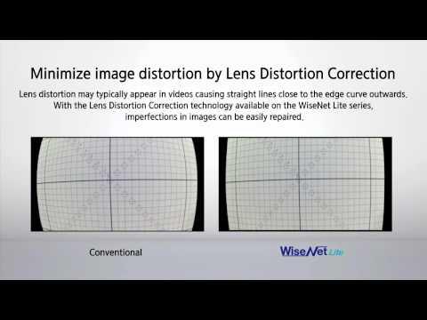 WiseNet Lite - Lens Distortion Correction (LDC) minimizes