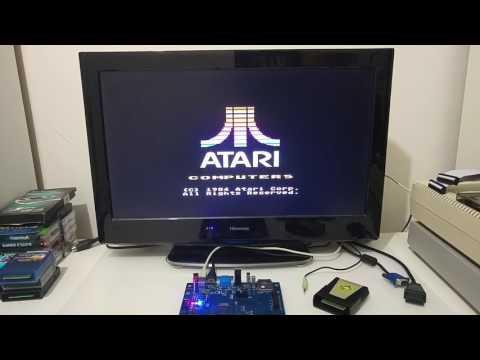 First demonstration of the EclaireXL v2 board (Atari XL FPGA based computer)