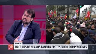 """Académico por protestas en Francia: """"Existen 42 distintos sistemas de pensiones"""""""