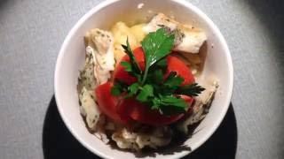 Кулинария: картошка и рыба запечённая с розмарином в рукаве
