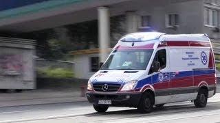 6 x Ambulans WSPR w Szczecinie (wail, yelp, hi-lo)