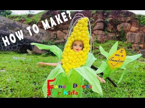 Sweet corn / Fancy dress / Kids / DIY / Corn / Barbie doll / Costume / Fancy dress for kids