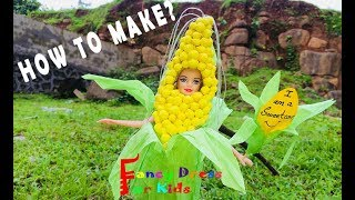 Sweet corn / Fancy dress / Kids / DIY / Corn / Barbie doll / Costume / Fancy dress for kids