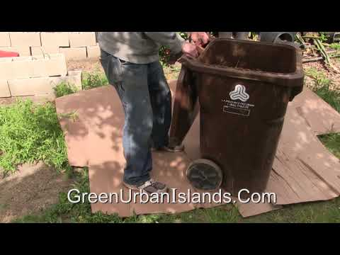 Composting With Trashed Cardboard And Horse Manure