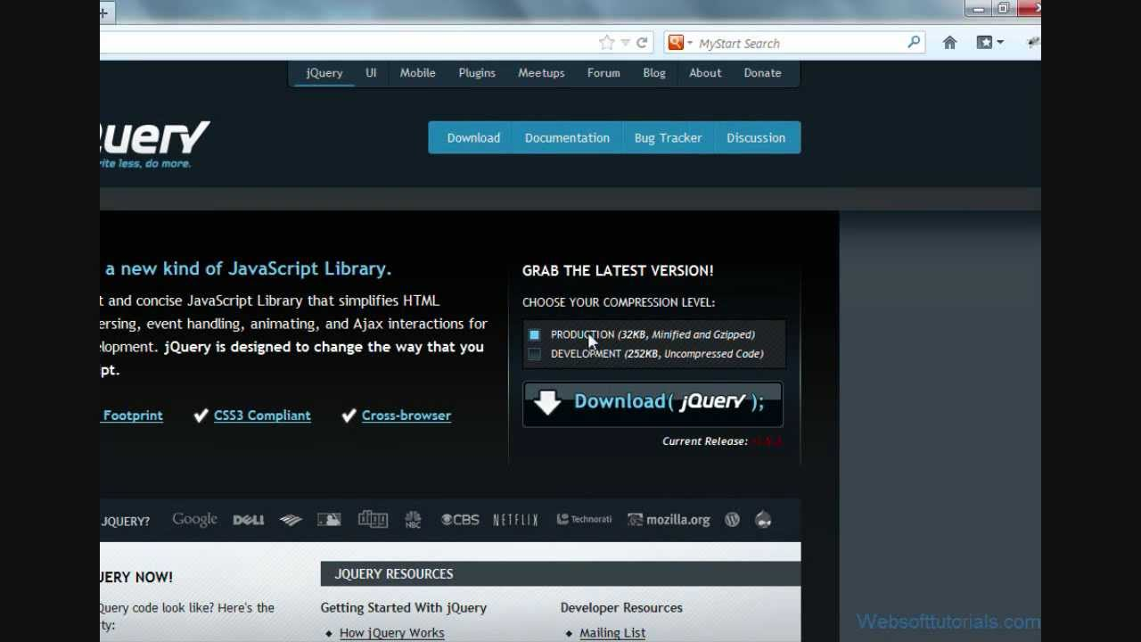 jquery tutorials for beginners - 2 - download jquery file ...