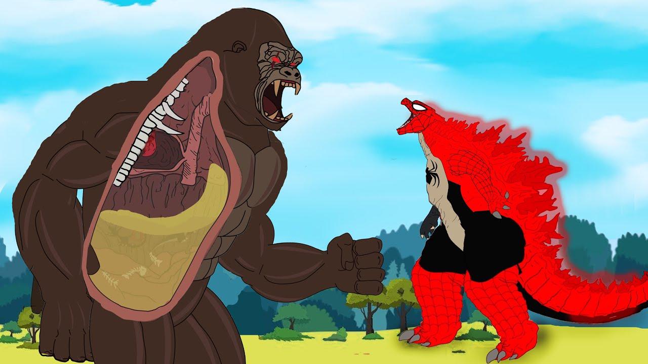 Download SPIDER GODZILLA vs KONG : Evolution of Monsterverse [HD]   Godzilla Animation Cartoon