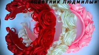 Венок из лент \  Wreath ribbons \ МК \ DIY