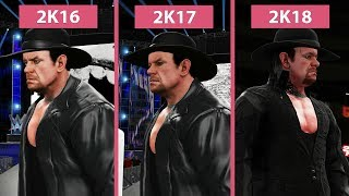 WWE 2K16 vs. 2K17 vs. 2K18 – The Undertaker Entrance Comparison