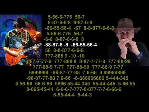 nº 737  Samba Pa Ti ( Carlos Santana ) tabl.arm.diat.( G )mundharmonika